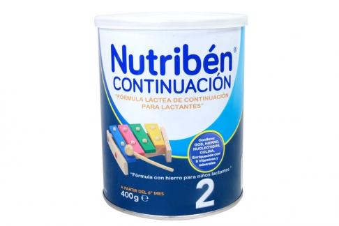 Nutribén Continuación 2 A Partir De 6 Meses Tarro Con 400 g