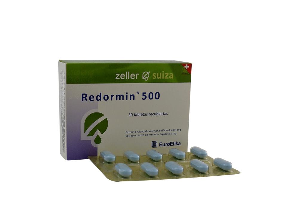 Redormin 500 374 / 84 mg Caja Con 30 Tabletas Recubiertas