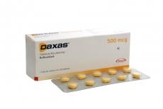 Daxas 500 mcg Caja Con 30 Tabletas Recubiertas Rx4