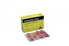 Amoxidal Dúo 875 mg Caja Con 21 Comprimidos Recubiertos Rx2