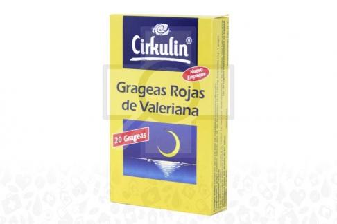 Grageas Rojas De Valeriana Caja X 20 Grageas
