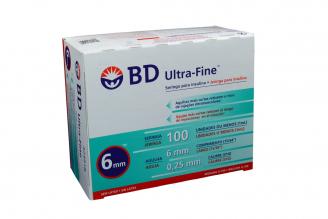 Bd Ultra-Fine 100 Jeringa Para Insulina 31G X 6mm Caja Con 100 Unidades