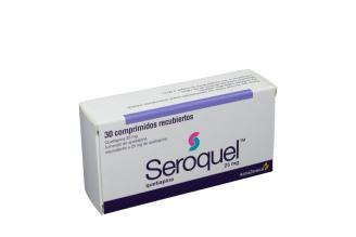 Seroquel 25 mg Caja Con 30 Comprimidos Recubiertos rx1 Rx4
