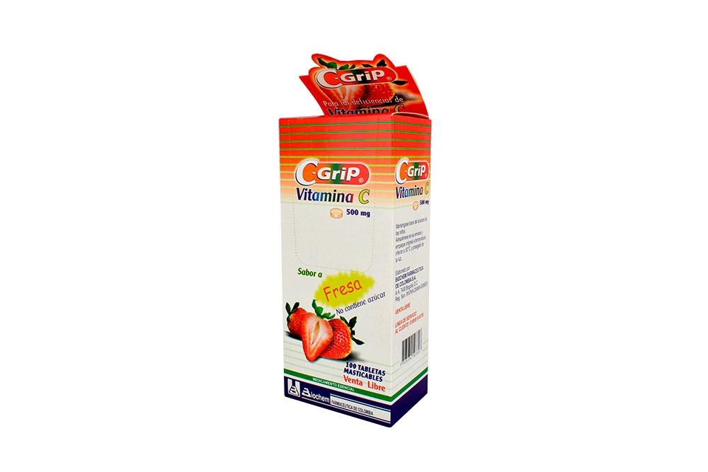 C-Grip 500 mg Caja Con 100 Tabletas Masticables