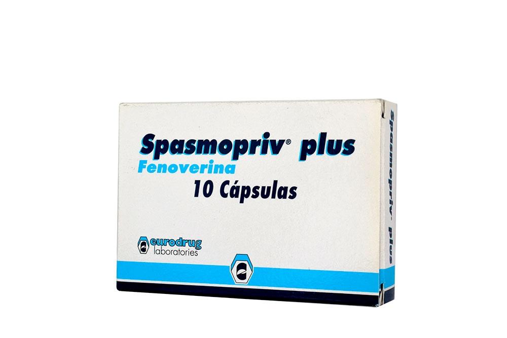 Spasmopriv Plus 200 mg Caja Con 10 Cápsulas Rx