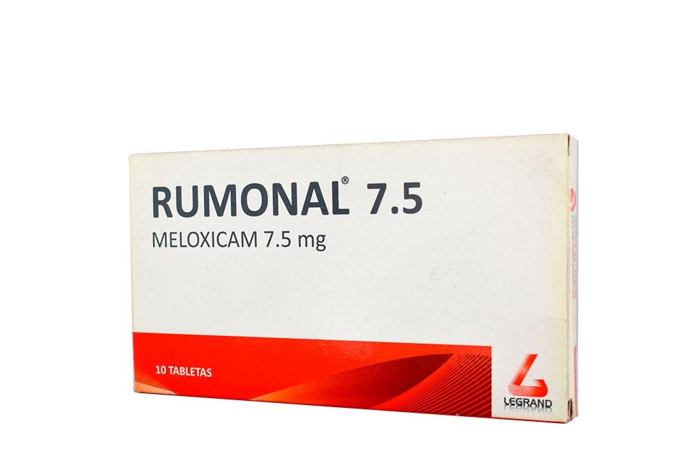Rumonal 7.5 mg Caja Con 10 Tabletas Rx