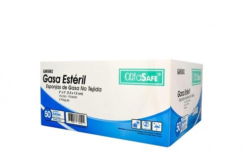 Gasa Estéril No Tejida 7.5 cm x 7.5 cm Caja Con 50 Sobres