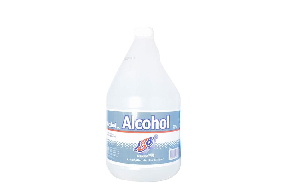Alcohol Antiséptico JGB 70%  Frasco Con 3800 mL
