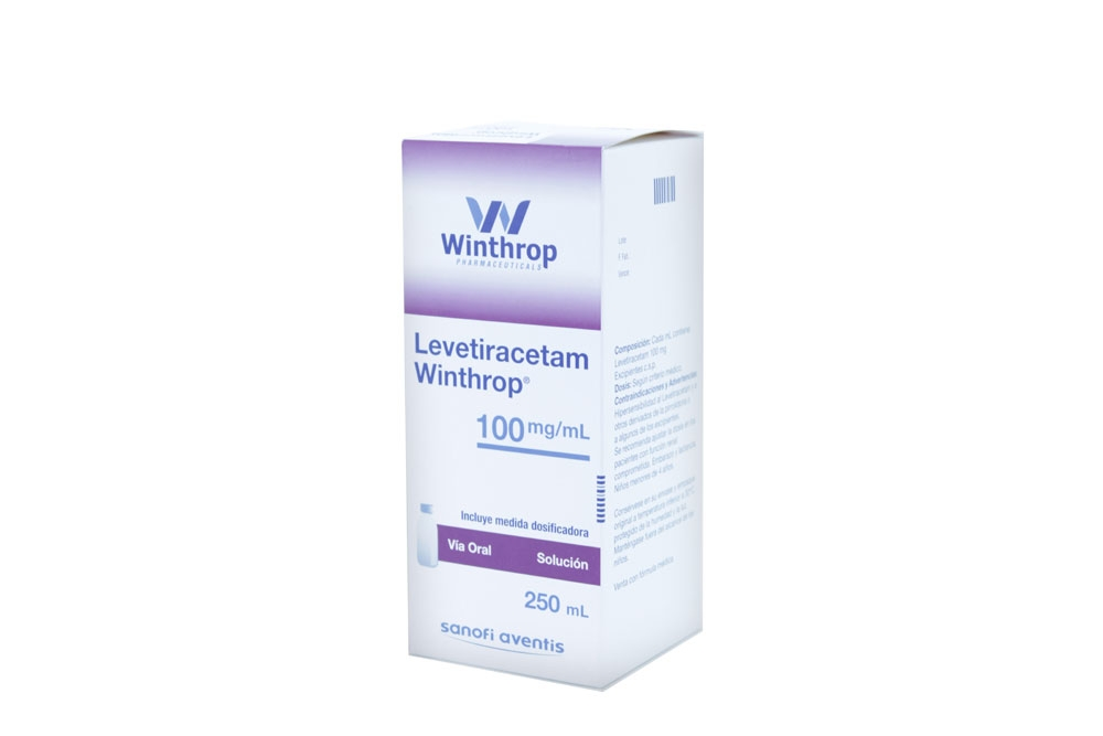 Levetiracetam 100 mg / mL Caja Con Frasco Con  250 mL Rx4