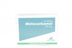 Metocarbamol 750 mg Caja Con 20 Tabletas Rx