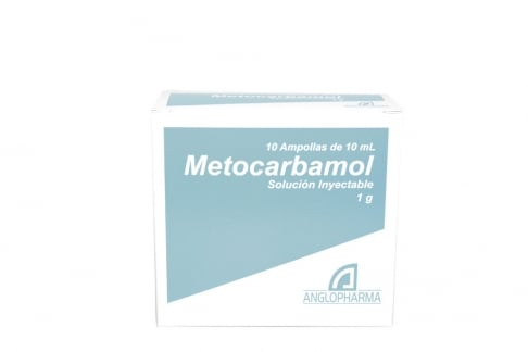 Metocarbamol 1 g / 10 mL Solución Inyectable Caja Con 10 Ampollas Rx