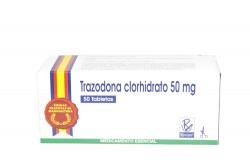 Trazodona Clorhidrato 50 mg Caja X 50 Tabletas. Rx