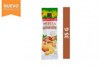 Mezcla Proteína Maní, Maíz y Almendra Nature's Heart Empaque Con 35 g