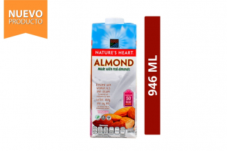 Almond Bebida De Almendras Nature's Heart Frasco Con 946 mL