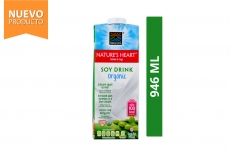 Soy Drink Organic Bebida De Soya Orgánica Nature's Heart Frasco Con 946 mL