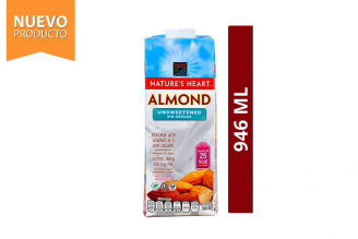 Almond Bebida De Almendras Sin Azúcar Nature's Heart Frasco Con 946 mL