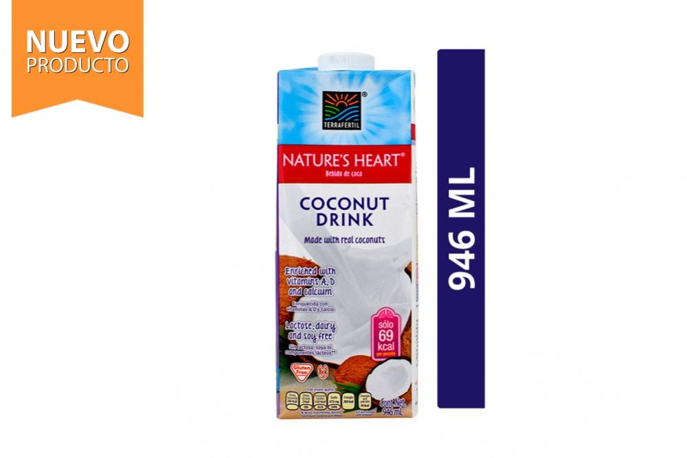 Coconut Drink Bebida De Coco Nature's Heart Caja Con 946 mL