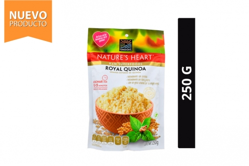 Royal Quinoa Nature's Heart Grano Bolsa Con 250 g