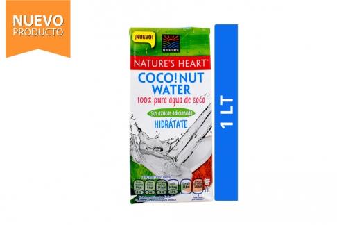 Coconut Water Agua De Coco Sin Azúcar Adicionada Nature's Heart Caja Con 1 Litro