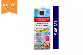 Almond & Coconut Drink Bebida Almendra Coco Proteína Nature's Heart Frasco Con 946 mL