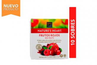 Infusión Frutos Rojos Nature's Heart Caja Con 10 Sobres Con 1.75 g C/U