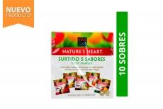 Infusión Surtida 5 Sabores Frutales Nature's Heart Caja Con 10 Sobres Con 17.4 g C/U