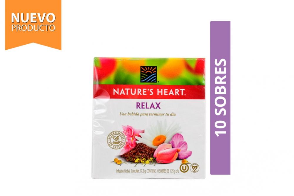 Infusión Relax Nature's Heart Caja Con 10 Sobres Con 1.75 g C/U