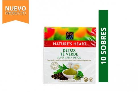 Infusión Detox Té Verde Nature's Heart Caja Con 10 Sobres Con 1.7 g C/U