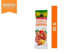 Mezcla Antioxidante Maní, Maní Confitado, Arándano, Maíz Y Almendras Nature's Heart Empaque Con 35 g