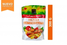 Mezcla Antioxidante Maní, Maní Confitado, Arándano, Maíz Y Almendras Nature's Heart Empaque Con 300 g
