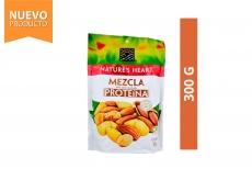 Mezcla Proteína Maní, Maíz y Almendra Nature's Heart Empaque Con 300 g