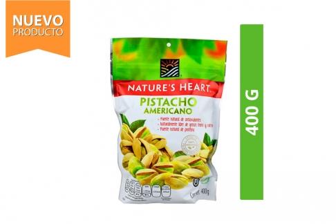 Pistacho Americano Nature's Heart Empaque Con 400 g