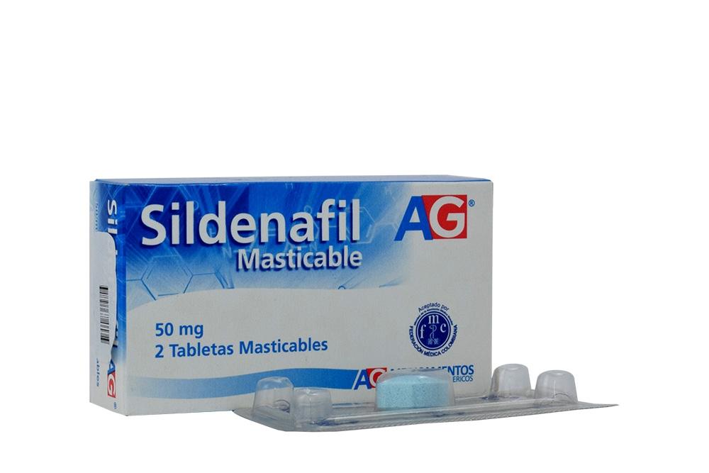 Sildenafil 50 mg Caja Con 2 Tabletas Masticables Rx4