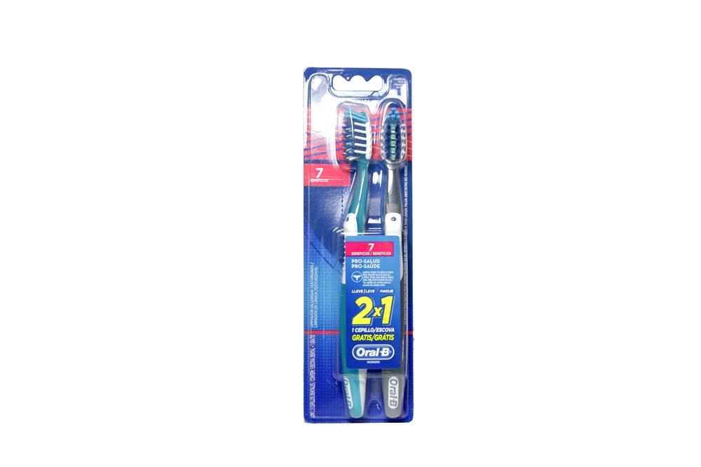 Cepillo Dental Oral B 7 Beneficios Empaque Con 2 Unidades
