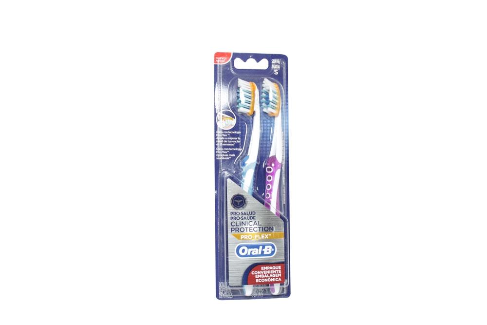 Cepillo Dental Oral B Pro-Flex Clinical Protection Empaque Con 2 Unidades