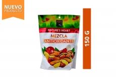 Mezcla Antioxidante Maní, Maní Confitado, Arándano, Maíz y Almendras Nature's Heart Empaque Con 150 g