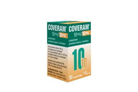 Coveram 10mg / 10 mg Caja Frasco Con 30 Comprimidos Rx4