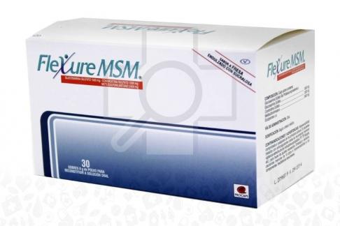 Flexure MSM Polvo Sabor A Fresa Caja Con 30 Sobres Con 8g Rx4