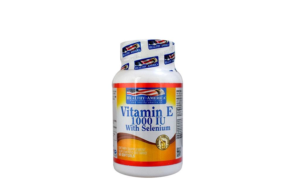 Vitamina E 1000 UI Frasco Con 50 Cápsulas