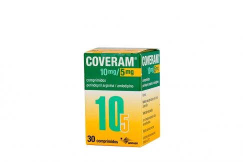 Coveram 10 / 5 mg Caja Con Frasco Con 30 Comprimidos Rx