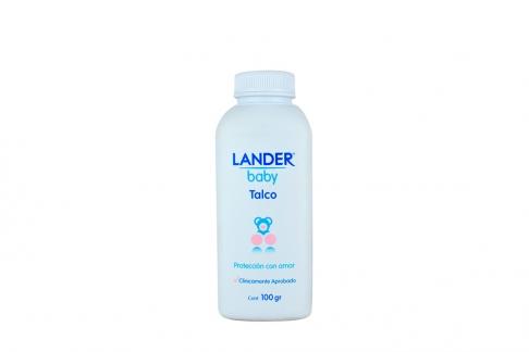 Lander Talco Bebe Frasco Con 100 g