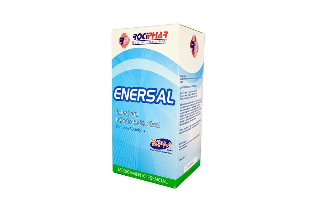 Enersal Suero Oral Natural Caja X 30 Sobres