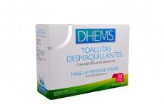 Toallitas Desmaquillantes Dhems Con Agentes Antioxidantes Caja Con 30 Unidades