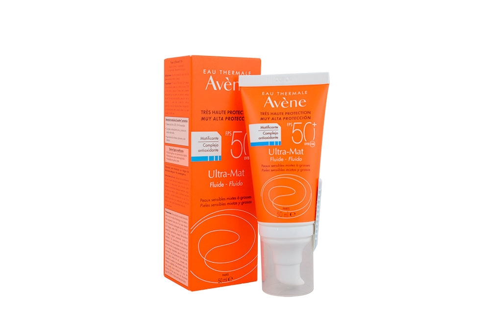 Eau Thermale Avène Protector Ultra – Mat Fluido FPS 50 + Caja Con Frasco 50 mL