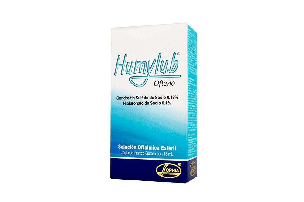 Humylub Ofteno Solución Oftálmica Ésteril Caja Con Frasco Con 15 mL
