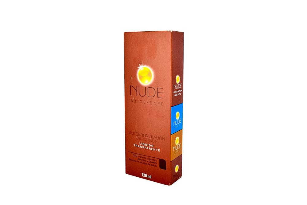 Autobronceador Nude Caja Con Frasco Con 120 mL – Líquido Transparente