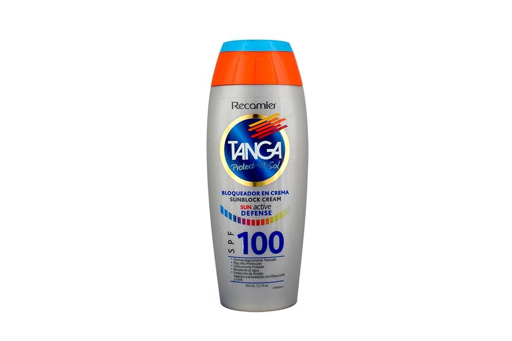 Bloqueador Tanga Crema Spf 100 Frasco Con 150 mL