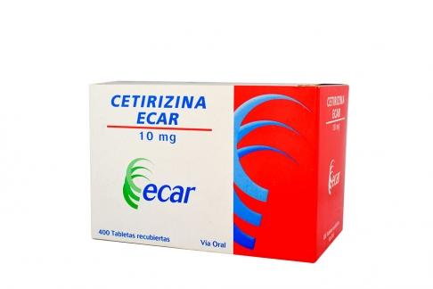 Cetirizina Ecar 10 mg Caja Con 400 Tabletas Rx