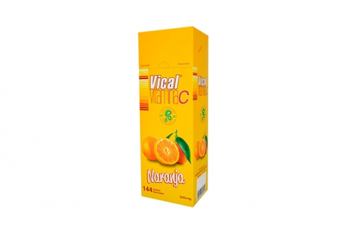 Vical Vitamina C 500 mg Ecar Caja Con 144 Tabletas - Sabor A Naranja