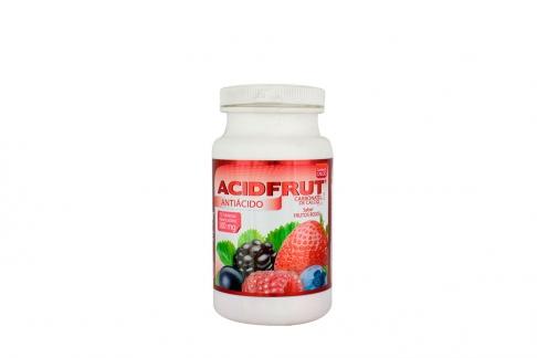 AcidFrut 500 mg Caja Con 75 Tabletas Masticables – Sabor Frutos Rojos